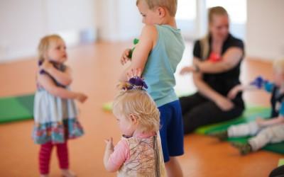 børn til rytmik på musikskolen