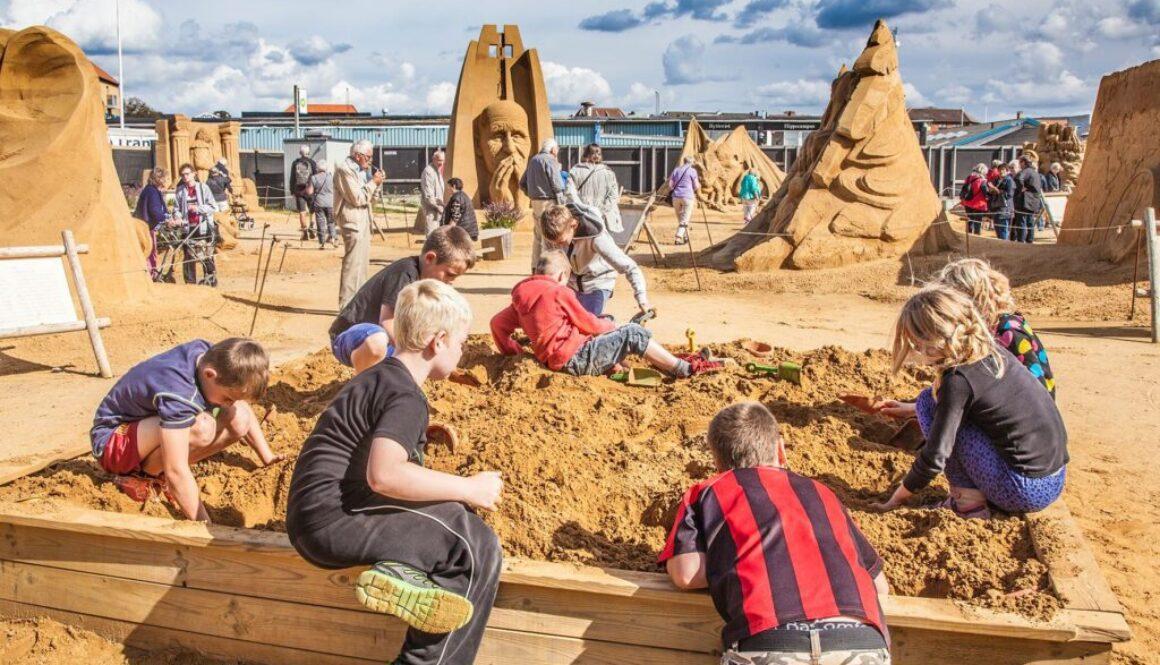 Sandskulptur for børn