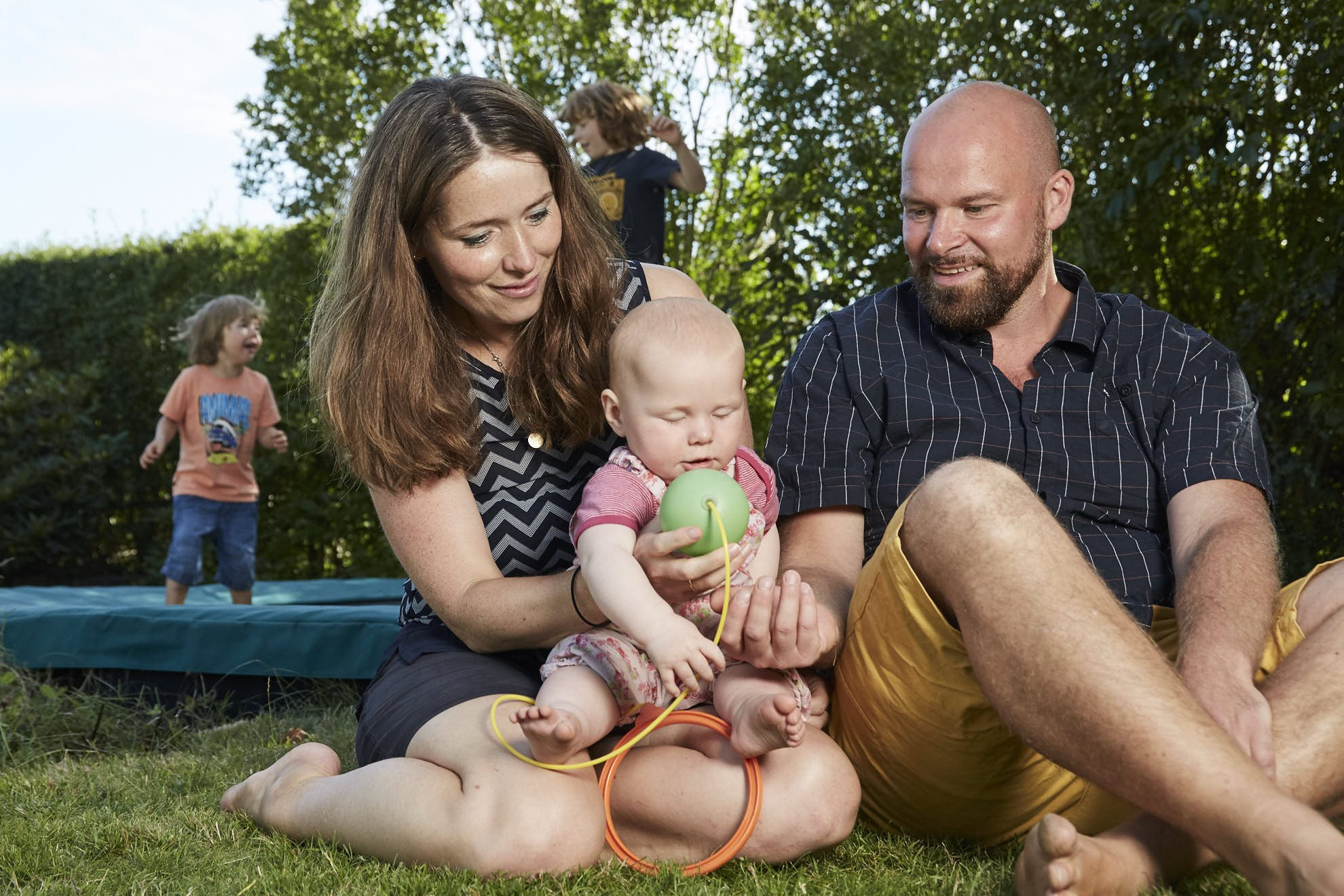 Billede af familien i Liseleje